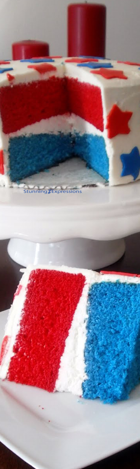 Surprising Red White And Blue Cake Stunning Expressions Funny Birthday Cards Online Alyptdamsfinfo